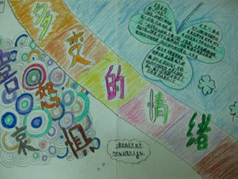 收集各种心理健康教育素材,并设计成精美的手抄报.图片